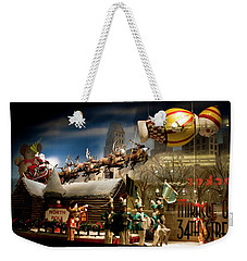 Macy's Miracle On 34th Street Christmas Window Weekender Tote Bag
