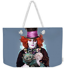 Mad Hatter And Cheshire Cat Weekender Tote Bag by Melanie D