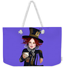 Mad Hatter Portrait Weekender Tote Bag by Methune Hively