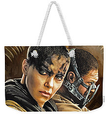 Weekender Tote Bag featuring the painting Mad Max Fury Road Artwork by Sheraz A