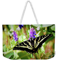 Weekender Tote Bag featuring the photograph Madam Butterfly by Victor K