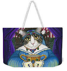 Weekender Tote Bag featuring the painting Madame Zoe Teller Of Fortunes - Queen Of Cups by Carrie Hawks