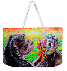 Weekender Tote Bag featuring the painting Madame#2 by Viktor Lazarev