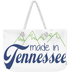 Weekender Tote Bag featuring the photograph Made In Tennessee Blue by Heather Applegate