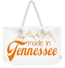 Weekender Tote Bag featuring the digital art Made In Tennessee Orange by Heather Applegate