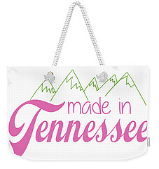 Weekender Tote Bag featuring the digital art Made In Tennessee Pink by Heather Applegate
