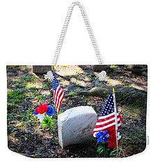 Weekender Tote Bag featuring the photograph Made In U S A by Beth Vincent