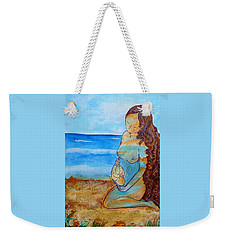 Weekender Tote Bag featuring the painting Made Of Water by Gioia Albano