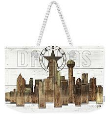 Made-to-order Dallas Texas Skyline Wall Art Weekender Tote Bag