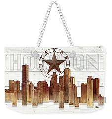 Made-to-order Houston Texas Skyline Wall Art Weekender Tote Bag