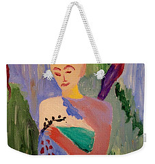 Weekender Tote Bag featuring the painting Madeline by Bill OConnor