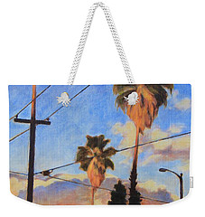 Madison Ave Sunset Weekender Tote Bag