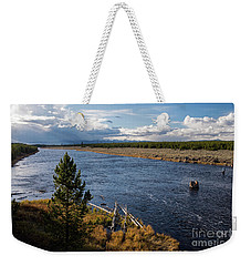 Madison River In Yellowstone National Park Weekender Tote Bag