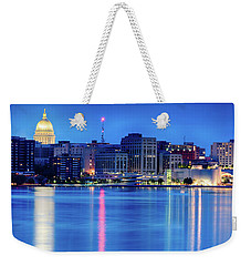 Madison Skyline Reflection Weekender Tote Bag