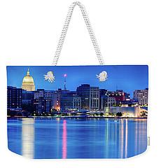 Madison Skyline Reflection Weekender Tote Bag