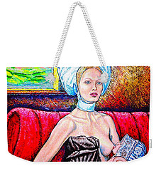 Madonna And Baby Weekender Tote Bag by Viktor Lazarev