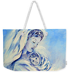 Madonna And Child By May Villeneuve Weekender Tote Bag