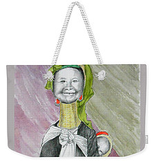 Madonna And Child -- The Original -- Whimsical Portrait Of Asian Woman And Child Weekender Tote Bag