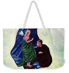 Madonna And Child With St Anthony Weekender Tote Bag