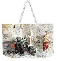 Madonna Bronze Casting Weekender Tote Bag by Ann Johndro-Collins