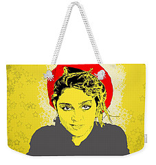 Madonna On Yellow Weekender Tote Bag
