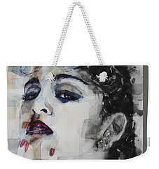 Weekender Tote Bag featuring the mixed media Madonna  Like A Prayer by Paul Lovering