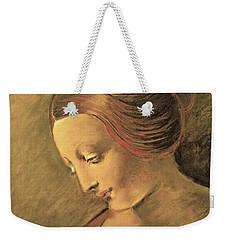 Weekender Tote Bag featuring the drawing Madonna Lita by Maja Sokolowska