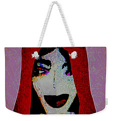 Madonna Mary Weekender Tote Bag by Ann Calvo