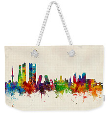 Madrid Spain Skyline Weekender Tote Bag