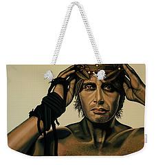 Mads Mikkelsen Painting Weekender Tote Bag by Paul Meijering