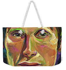 Mads Mikkelsen Weekender Tote Bag by Robert Phelps