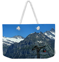 Maennlichen Gondola Calbleway, In The Background Mettenberg And Schreckhorn Weekender Tote Bag