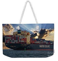 Maersk Sealand Leaving Charleston South Carolina Weekender Tote Bag