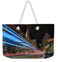 Weekender Tote Bag featuring the photograph Mag Mile Warp Speed by Sean Foster