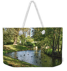 Weekender Tote Bag featuring the photograph Magdalen From The River Cherwell by Joe Winkler