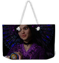 Weekender Tote Bag featuring the painting Magdalene Of Nagasaki by Suzanne Silvir