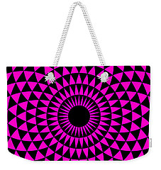 Weekender Tote Bag featuring the digital art Magenta Balance by Lucia Sirna