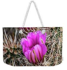 Magenta Cactus Flowers Weekender Tote Bag