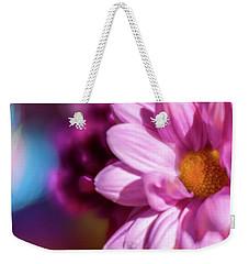Magenta Floral On Blue Weekender Tote Bag