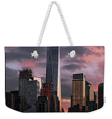 Magenta Skies Weekender Tote Bag by Anthony Fields
