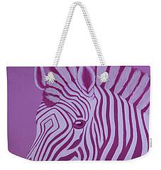 Magenta Zebra Weekender Tote Bag