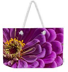 Magenta Zinnia Weekender Tote Bag