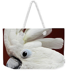 Maggie The Umbrella Cockatoo Weekender Tote Bag
