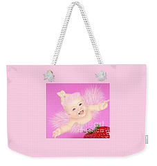 Magic Baby Face-pink Angle Weekender Tote Bag