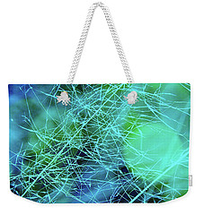 Magic Grasses In Turquoise Weekender Tote Bag by Judi Bagwell