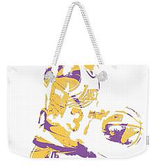 Magic Johnson Los Angeles Lakers Pixel Art 6 Weekender Tote Bag