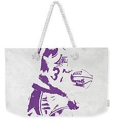 Magic Johnson Los Angeles Lakers Pixel Art Weekender Tote Bag by Joe Hamilton