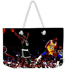 Magic Johnson No Look Pass 7a Weekender Tote Bag by Brian Reaves
