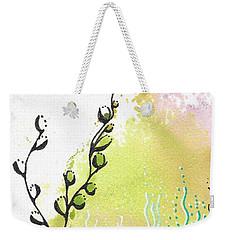 Weekender Tote Bag featuring the drawing Magic Mist by Jan Steinle