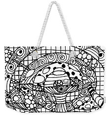 Magic Mushroom Tangle Weekender Tote Bag